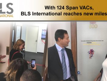 BLS International reaches milestone of 124 Visa Application Centres for Spain Globally.