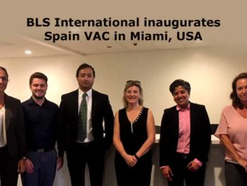 BLS International inaugurates Spain Visa Application Center in Miami, USA