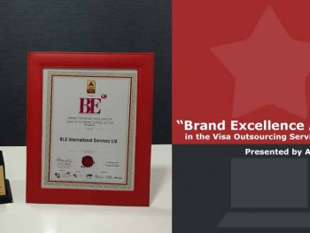 "BLS International honoured with ""Brand Excellence Award in the Visa Outsourcing Service Sector"""